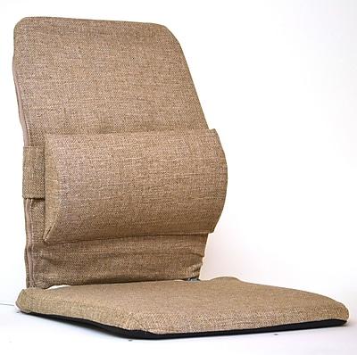 Sacro-Ease Bucket Seat Back Cushion w/ Adjustable Lumbar; Light Brown