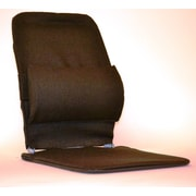 Sacro-Ease Seat Back Cushion w/ Adjustable Lumbar Support; Brown
