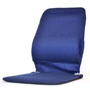 Sacro-Ease Seat Back Cushion w/ Adjustable Lumbar Support; Blue