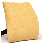 Sacro-Ease Memory Foam Back Cushion w/ Adjustable Belt; Pebble