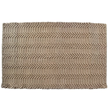 Imports Decor Natural Waves Rug; Rectangle 2' x 3'