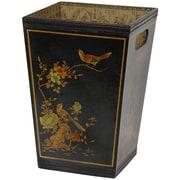 Oriental Furniture Wood Waste Basket