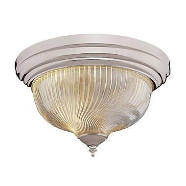TransGlobe Lighting Flush Mount; Brushed Nickel