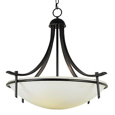 TransGlobe Lighting 4-Light Inverted Pendant; Rubbed Oil Bronze