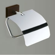 Gedy by Nameeks Minnesota Woods Toilet Paper Holder w/ Cover in Chrome