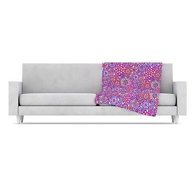 KESS InHouse My Happy Flowers Throw Blanket; 40'' L x 30'' W