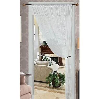 Kashi Home Thread Single Curtain Panel with Taffeta Rod Pocket; White