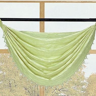 Kashi Home Sherry Crushed Satin Curtain Valance; Lime