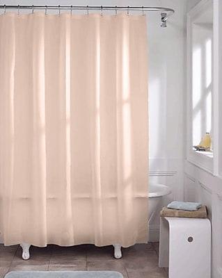 Kashi Home Vinyl Heavy Gauge Shower Curtain Liner; Peach