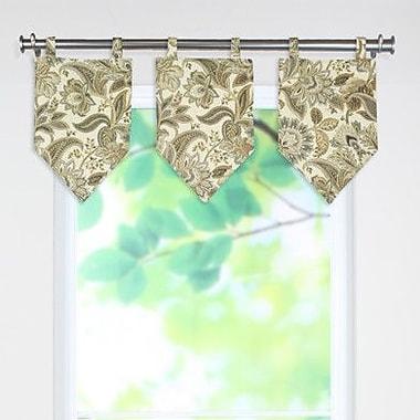 Brite Ideas Living Valdosta Tab Top Stitched V 54'' Curtain Valance
