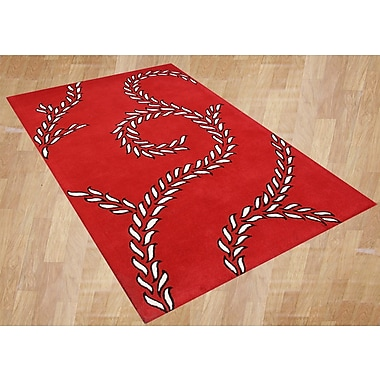 James Bond Alliyah Sabrina Red Area Rug; 8' x 10'
