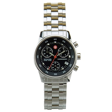 Wenger® Swiss 9301 Ladies Chronograph Watch, Solid Steel Bracelet