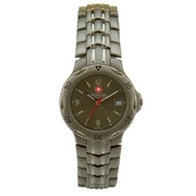 Wenger® Swiss 9883 Mens Analog Watch, Solid Titanium Bracelet