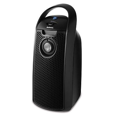 Jarden Holmes HEPA-type Mini Tower Air Purifier With Visipure Filter Viewing Window, Black 1178874