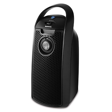 Jarden Holmes® HEPA-type Mini Tower Air Purifier With Visipure Filter Viewing Window, Black