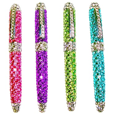 Inkology Glam Rocks Rhinestone Retractable Ball Point Pens