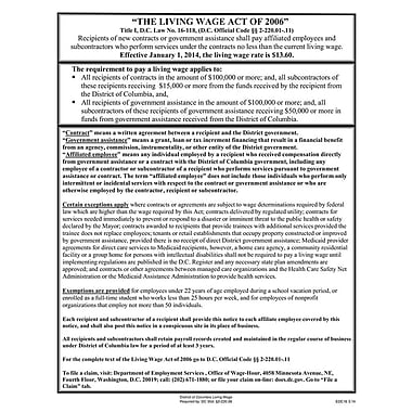 ComplyRight™ District of Columbia Living Wage Downloadable Poster