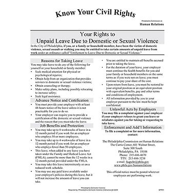 ComplyRight™ Philadelphia Domestic Violence Downloadable Poster