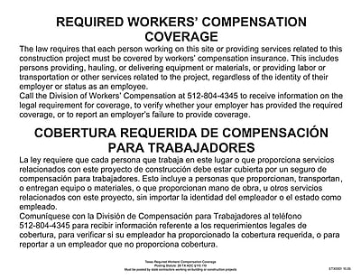 ComplyRight™ Texas Workers Compensation Coverage Poster (ETX0001)