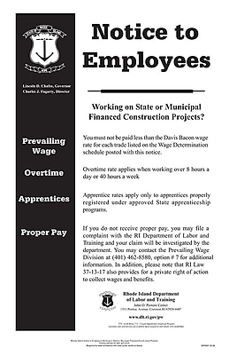 ComplyRight™ Rhode Island Notice to Employee State Contract Poster (ERI0001)