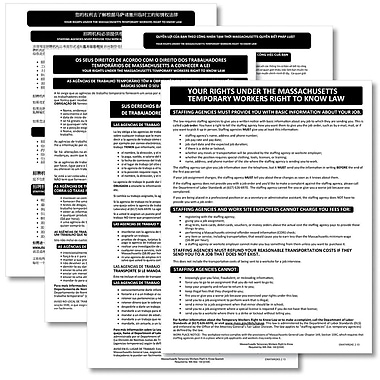 ComplyRight™ Massachusetts Temporary Workers Right to Know Law Poster Bundle