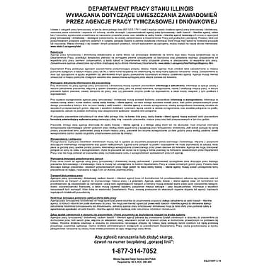 ComplyRight™ Illinois Day and Temporary Labor Services Act Polish Poster