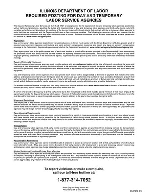 ComplyRight™ Illinois Day and Temporary Labor Services Act English Poster (EILDTSAE)