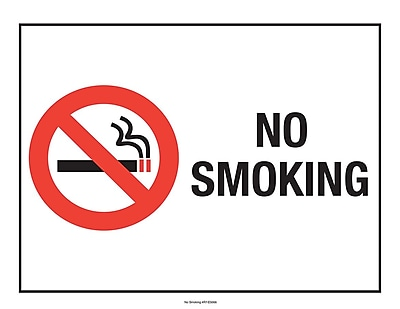 ComplyRight™ No Smoking Poster (E5066)