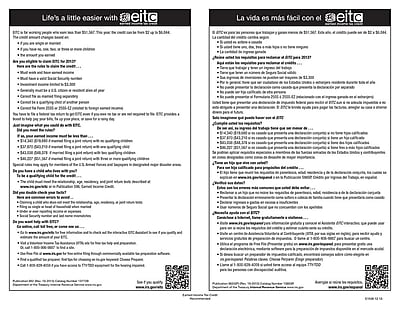 ComplyRight™ Earned Income Tax Credit Bilingual Poster (E1530)