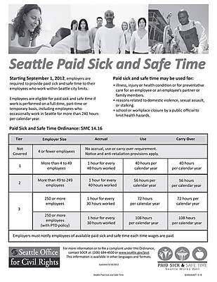 ComplyRight™ Seattle Paid Sick Leave Poster