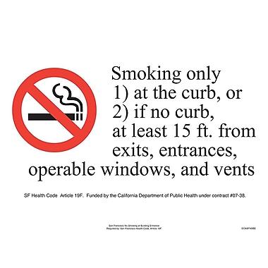 ComplyRight™ San Francisco No Smoking at Building Entry Poster
