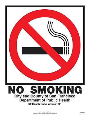 ComplyRight™ San Francisco No Smoking Poster