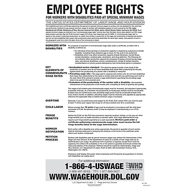 ComplyRight™ Federal Notice to Workers With Disabilities English Poster
