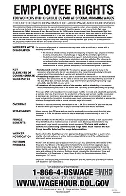 ComplyRight™ Federal Notice to Workers With Disabilities English Poster (E1178)