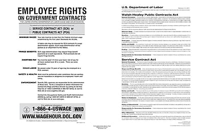 ComplyRight™ The Walsh-Healey Public Contracts Act Poster (E2201)