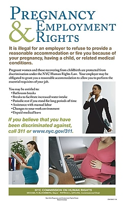 ComplyRight™ New York City Pregnancy & Employment Rights Poster (ENY0003)