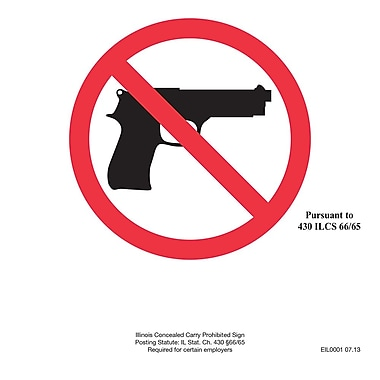 ComplyRight™ Illinois Concealed Carry Prohibited Sign