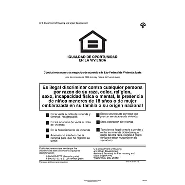 ComplyRight™ Federal Fair HUD Equal Housing Opportunity Spanish Poster