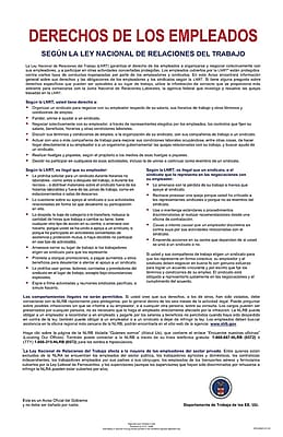 ComplyRight™ National Labor Relations Act Spanish Poster