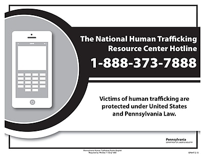 ComplyRight™ Pennsylvania Human Trafficking English Poster (EPAHT)