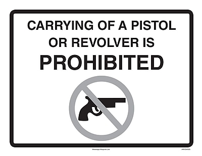 ComplyRight™ Mississippi Weapons Law Poster (EMS2G)