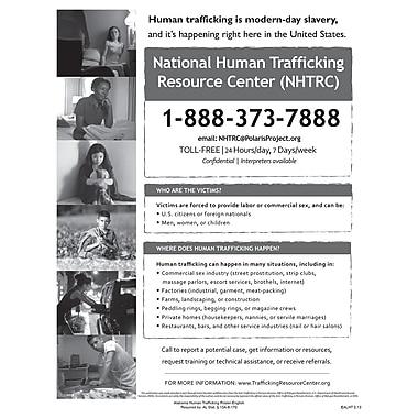 ComplyRight™ Alabama Human Trafficking English Poster
