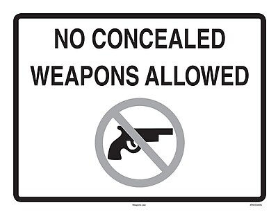 ComplyRight™ Concealed Weapons Law Poster (EGN2G)