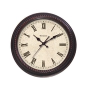 Westclox 32059 Composite Analog Wall Clock, Brown