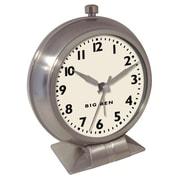 Westclox 47602 Plastic Analog Big Ben Classic Alarm Table Clock, Silver