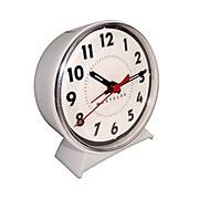 Westclox 15550W Metal Analog Keno Loud Bell Alarm Table Clock, White
