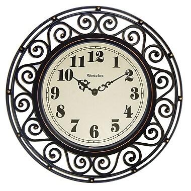 Westclox 32021A Plastic Analog Wall Clock, Black