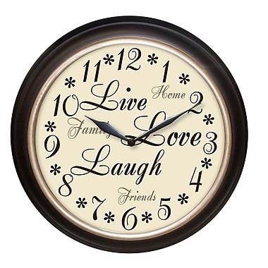 Westclox 32032A Plastic Analog Wall Clock, Dark brown