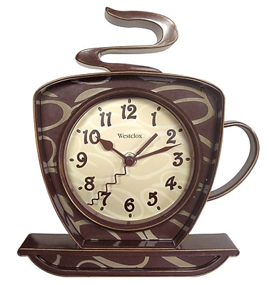 Westclox 32038W Plastic Analog Wall Clock, Brown