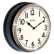 Westclox 32041AB Plastic Analog Wall Clock, Black